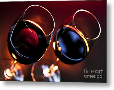 Wineglasses Metal Print by Elena Elisseeva