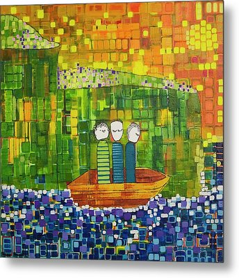 Metal Print featuring the painting Wink Blink And Nod by Donna Howard