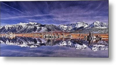 Winter Around The Lake Metal Print