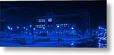Winter Blues - Love In The Library Metal Print by John Stephens
