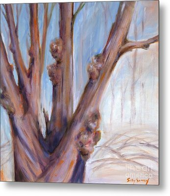 Metal Print featuring the painting Winter Bones by Sally Simon