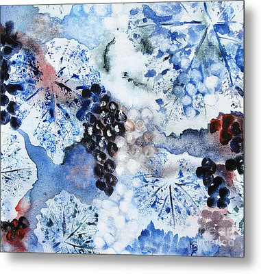 Metal Print featuring the painting Winter Grapes IIi by Karen Fleschler