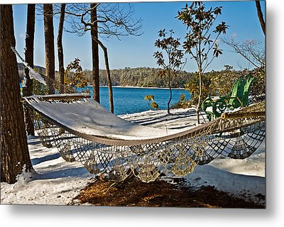 Metal Print featuring the photograph Winter Hammock by Susan Leggett