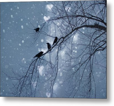 Winter Hearts Metal Print by Gothicrow Images