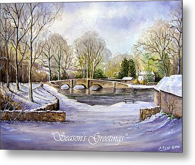 Winter In Ashford Xmas Card Metal Print by Andrew Read