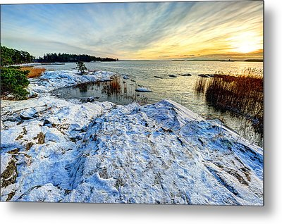 Winter In Finland Metal Print by Roman Rodionov