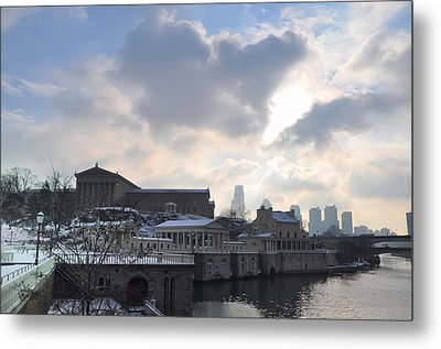 Winter In Philly Metal Print by Bill Cannon
