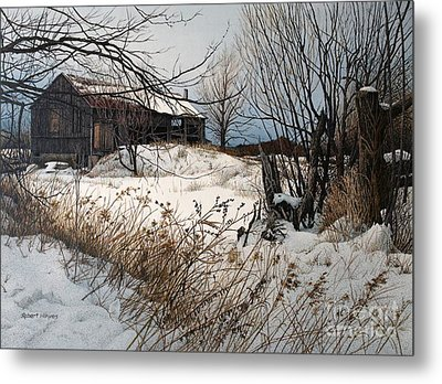 Winter In Prince Edward County Metal Print by Robert Hinves