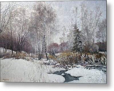 Winter Landscape Metal Print by Andrey Soldatenko