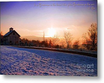 Winter Landscape Connecticut Usa Metal Print by Sabine Jacobs