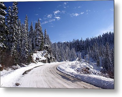 Winter On Chinnook Pass Metal Print