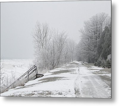 Metal Print featuring the mixed media Winter On The Old Lakeshore by Bruce Ritchie