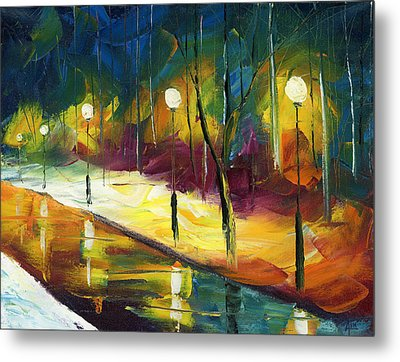 Winter Park Evening Metal Print by Ash Hussein