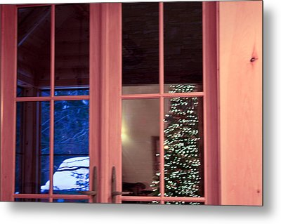 Metal Print featuring the photograph Winter Reflections  by Ann Murphy