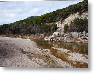 Winter River Metal Print by Lisa Holmgreen