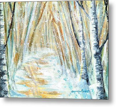 Metal Print featuring the painting Winter by Shana Rowe Jackson