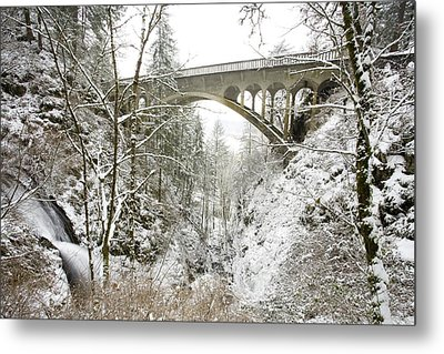 Winter, Shepperds Dell, Columbia River Metal Print by Craig Tuttle