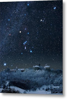 Winter Sky With Orion Constellation Metal Print by Eckhard Slawik