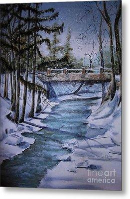 Winter Solitude Metal Print by Marylyn Wiedmaier