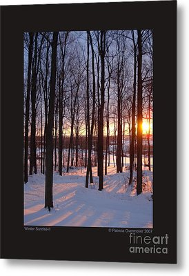 Metal Print featuring the photograph Winter Sunrise-ii by Patricia Overmoyer
