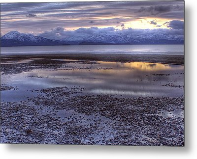 Metal Print featuring the photograph Winter Sunset by Michele Cornelius