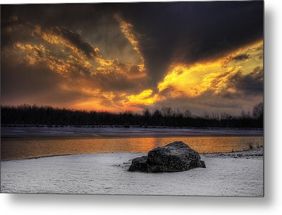 Metal Print featuring the photograph Winter Sunset by Yelena Rozov