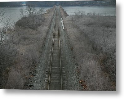 Metal Print featuring the photograph Winter Tracks  by Neal Eslinger