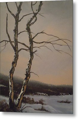 Winter Trees Metal Print by James Guentner