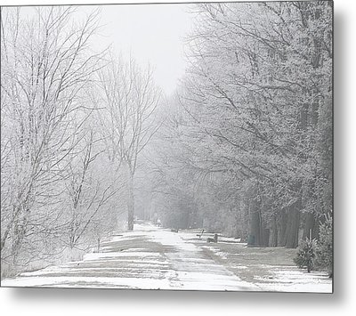 Metal Print featuring the mixed media Winter Walkway by Bruce Ritchie