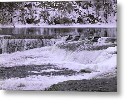 Metal Print featuring the photograph Winter Waterfalls by Josef Pittner