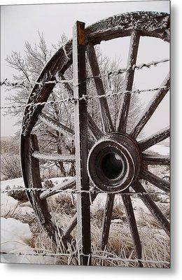 Winter Wheel Metal Print by Wesley Hahn