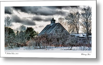Wintering Barn Metal Print