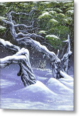 Metal Print featuring the painting Winters Ghost by Kurt Jacobson