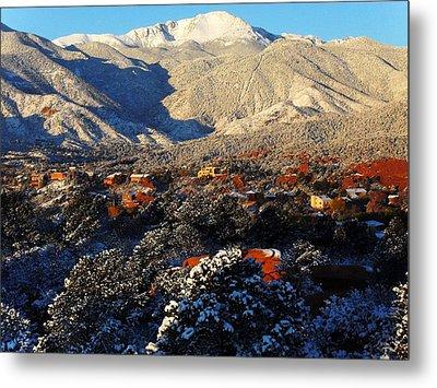 Wintery Colorado Morning Metal Print by Clarice  Lakota