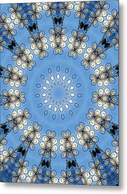 Wire Flowers And Butterflies Metal Print by Kristie  Bonnewell