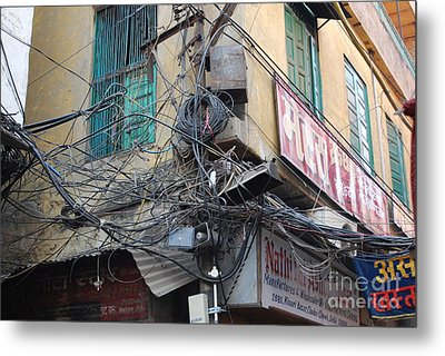 Wires Metal Print by Jen Bodendorfer