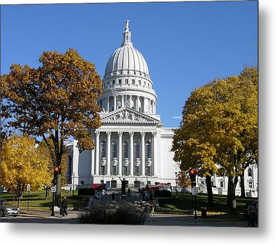 Wisconsin State Capitol Building Metal Print by Keith Stokes