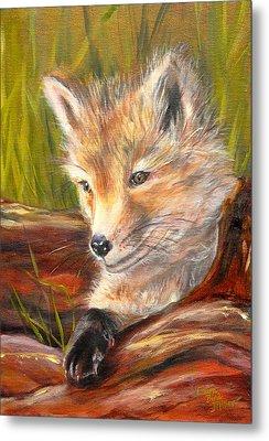 Wise As A Fox Metal Print by Laura Bird Miller