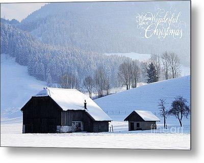 Wishing You A Wonderful Christmas Metal Print by Sabine Jacobs