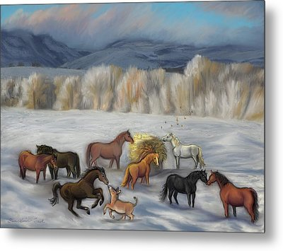 Wishing You Peace  Joy  Abundance And Love Throughout The New Year Metal Print by Dawn Senior-Trask