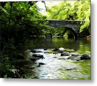 Wissahickon Bridge Metal Print by Bill Cannon