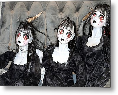 Witches Of Hallow's Eve Metal Print by Elizabeth Winter