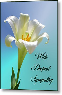 With Deepest Sympathy Metal Print