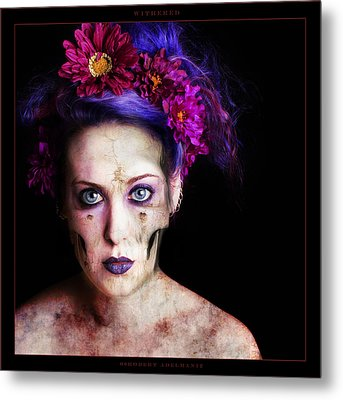Withered Metal Print by Robert  Adelman