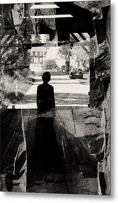 Within A Covered Bridge Metal Print by Joseph Duba