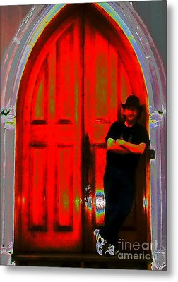 Wolf At The Door Metal Print