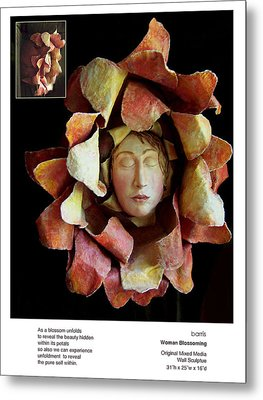 Woman Blossoming Metal Print by Beverly Barris
