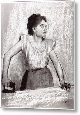 Woman Ironing Metal Print by Edgar Degas