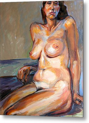 Woman Nude Metal Print by Stan Esson
