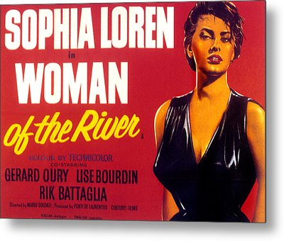 Woman Of The River, Aka La Donna Del Metal Print by Everett